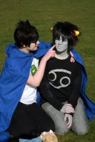 John: Touch Karkat's face by xHaku-chanx
