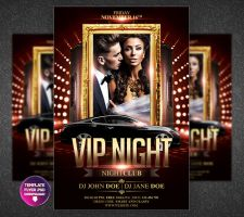 VIP Club Flyer Template by Grandelelo