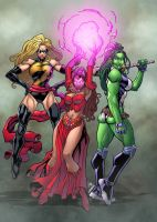 Marvel Girls by Mike Bowden colored by Dany-Morales