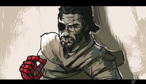 Big Boss: got a cigar? by UNiCOMICS-Chowkofsky