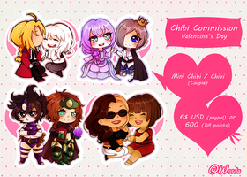 Valentine's Day (Chibi Commission)(CLOSED) by Wosda