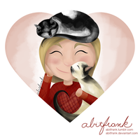 Purrfect Kitty Cuddles Valentine by abitfrank