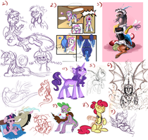 My Little Pony Art Dump IV by Lopoddity
