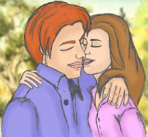 Ron and Hermione Luvin' by isnani