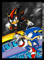 Sonic VS Shadow.For true story by SpyxedDemon