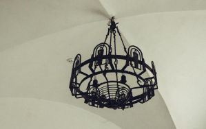 Chandelier in a medieval castle by coolerSSS