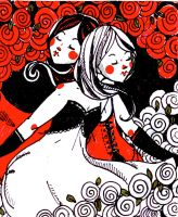 snow white and rose red by lavender-lemonade