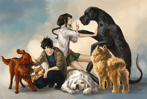 Izzy, Thuy and Friends by Krasharkk