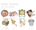 Art Nouveau Icons by LineBirgitte