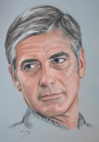 George Clooney portrait by Andromaque78
