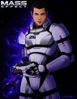 Mass Effect: Commander Arless Shepard by DJCoulz