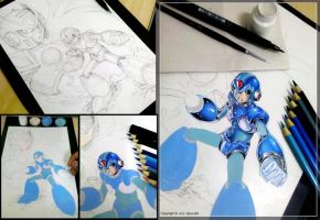 Megaman x4 - Tribute WIP by Sano-BR