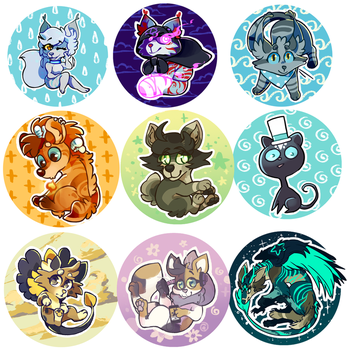 friend buttons by Nifty-senpai