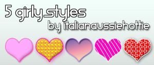 5 Girly Styles by italianaussiehottie