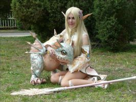 Amallae and Ailoki - Lineage II elf - Arcana Robe by xXAnemonaXx