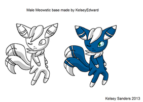 Male Meowstic Base by KelseyEdward