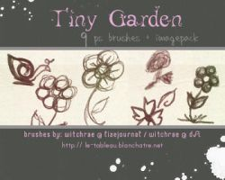 Brushes - Tiny Garden by witchrae