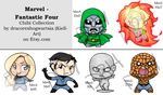 Chibi Collection - Fantastic Four by Kiell-Art