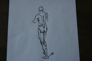 male figure using calligraphy pens by mcm1011