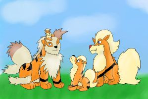 The growlithes and arcanines of nuzlockes by Arc1996