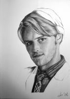 Jesse Spencer graphite wip by corienb