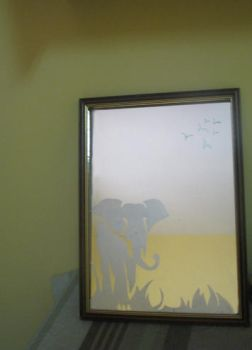 Craftings- mirror etching by hollow-shell