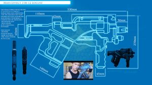 Mass Effect 3 : Locust Smg Blueprints , by DFT by CpCody