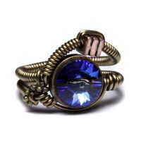 Steampunk ring bermuda blue by CatherinetteRings