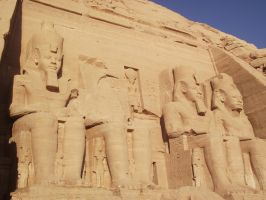 Temples of Abu Simbel - Ramesses' Temple by Skarkdahn
