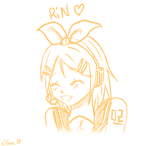 [Fan Art]Rin Kagamine - Sketch by Inra98