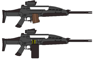 M-8 LMG rifle by IgorKutuzov