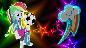Equestria Girls Rainbow Dash Wallpaper by Macgrubor