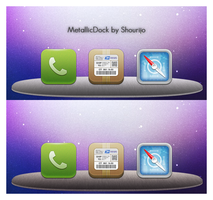 MetallicDock for iPhone by Shourijo