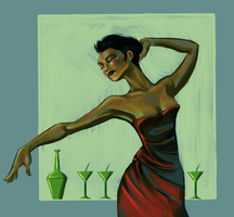 Lady in Cocktail Dress by PilesOfStuff
