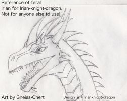 Irian feral form reference sketch by Gneiss-chert
