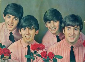 The Beatles with roses by chaka-boom