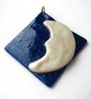 Moon and Sky Pendant by SarahRose
