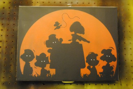 You're the Undead, Charlie Brown / 12x16 / Spray by Joshfryguy