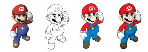 Mario vector by brunodarkdevil