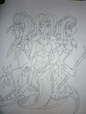 Gorgon Sisters - Uncolored Ver