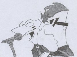 Phineas and Ferb singing by glasscountess