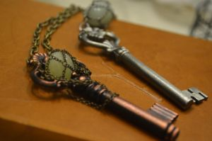Steampunk Skeleton Key Necklace by TheBoomPow
