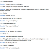 A Fun controversial conversation with Cleverbot by P4VILION