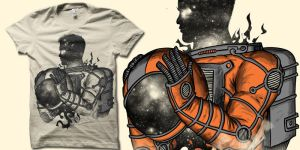 the spaceman t shirt by biotwist