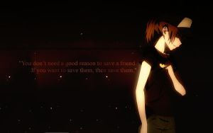 ''You don't need a good reason...'' - Wallpaper by G4lik