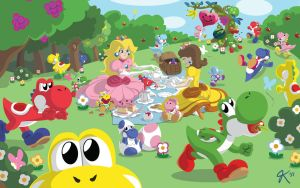 Princesses and Yoshis by JoRoKa