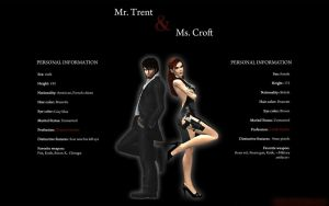 Mr. Trent and Ms. Croft by HalUet
