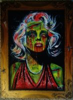 Zombified Marilyn Monroe by VanZanto