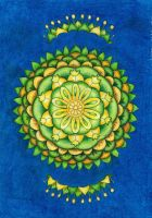 Growing strong - mandala by Grafistka.com by I-Love-My-Pencils