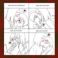 Cute Kiss x4 Meme by IllusionEvenstar